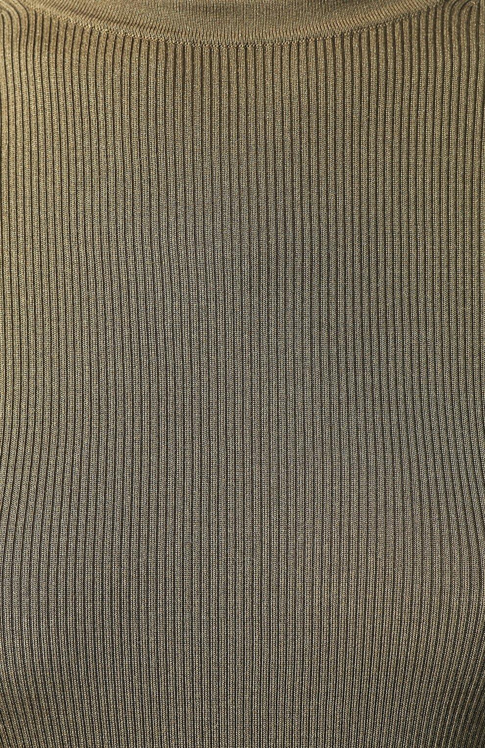 Женская шелковая футболка RALPH LAUREN хаки цвета, арт. 290710199 | Фото 5