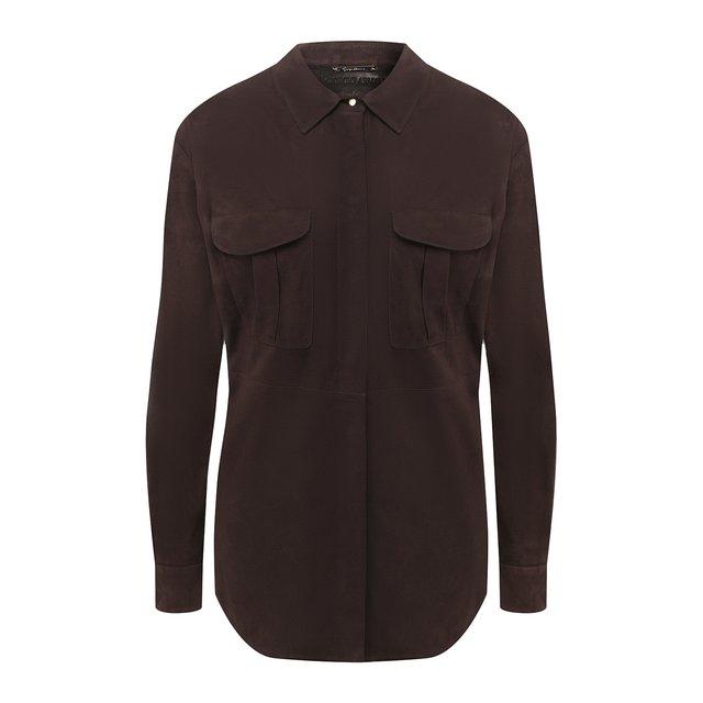 Замшевая рубашка Giorgio Armani