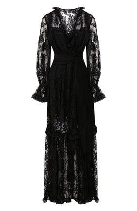 Женское платье-макси DOLCE & GABBANA черного цвета, арт. F6G8WT/HLMQJ | Фото 1