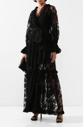 Женское платье-макси DOLCE & GABBANA черного цвета, арт. F6G8WT/HLMQJ | Фото 2