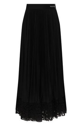 Женская юбка-миди VALENTINO черного цвета, арт. TB3MD01H575 | Фото 1