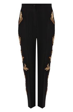 Женские шерстяные брюки DOLCE & GABBANA черного цвета, арт. FTAM2Z/FUBAJ | Фото 1