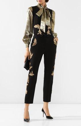 Женские шерстяные брюки DOLCE & GABBANA черного цвета, арт. FTAM2Z/FUBAJ | Фото 2