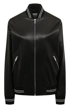 Женский кожаный бомбер VALENTINO черного цвета, арт. TB3NA05G1AW | Фото 1