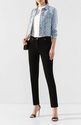 Женские джинсы VERSACE черного цвета, арт. A85443/A232772 | Фото 2