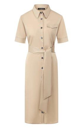 Женское хлопковое платье PIETRO BRUNELLI бежевого цвета, арт. AG0421/LG/C0P319   Фото 1
