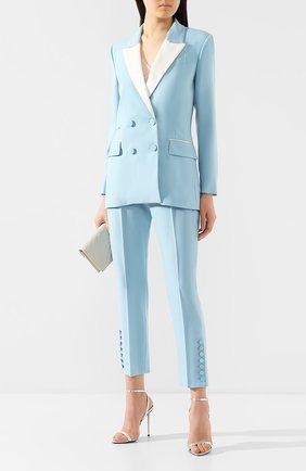 Женские шерстяные брюки RACIL голубого цвета, арт. RS10-P1-W-VICT0R   Фото 2