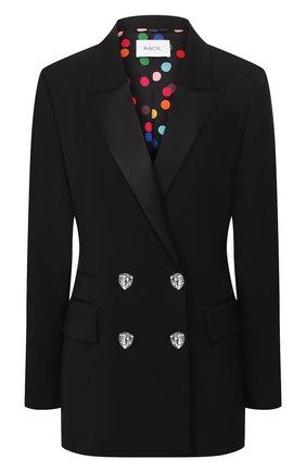 Женский шерстяной жакет RACIL черного цвета, арт. RS10-J12-W-S-FELIX   Фото 1