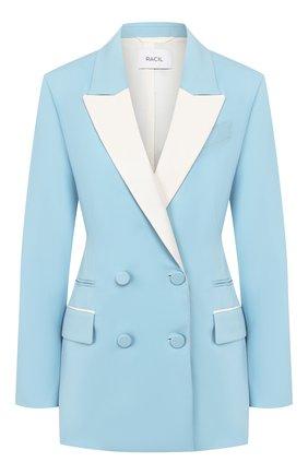 Женский шерстяной жакет RACIL голубого цвета, арт. RS10-J12-W-GG-FELIX   Фото 1