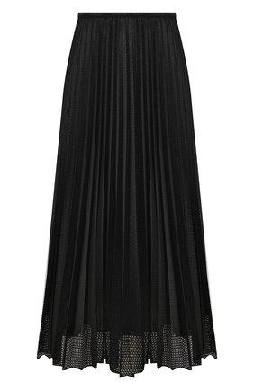 Женская юбка с перфорированием MONCLER черного цвета, арт. F1-093-2D711-00-54A39 | Фото 1