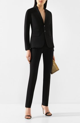 Женский шерстяной костюм DSQUARED2 черного цвета, арт. S75FT0201/S40320 | Фото 1
