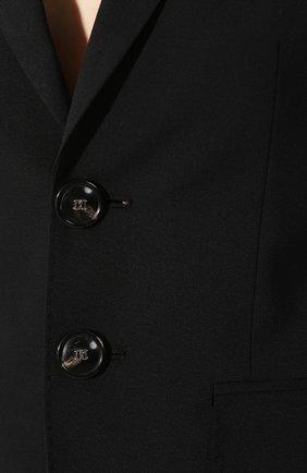 Женский шерстяной костюм DSQUARED2 черного цвета, арт. S75FT0201/S40320 | Фото 6
