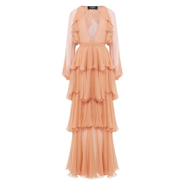 Шелковое платье Dsquared2