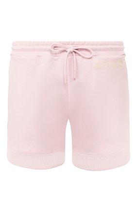 Женские хлопковые шорты KENZO светло-розового цвета, арт. FA52PA719952   Фото 1 (Статус проверки: Проверена категория; Длина Ж (юбки, платья, шорты): Мини; Материал внешний: Хлопок; Стили: Спорт-шик; Женское Кросс-КТ: Шорты-одежда)