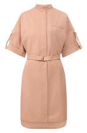 Женское хлопковое платье YVES SALOMON светло-розового цвета, арт. 20EYR03996C0XW | Фото 1