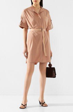 Женское хлопковое платье YVES SALOMON светло-розового цвета, арт. 20EYR03996C0XW | Фото 2