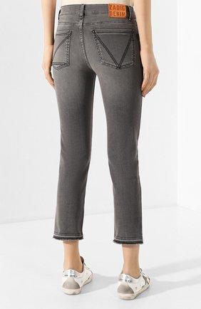 Женские джинсы ZADIG&VOLTAIRE серого цвета, арт. SJCA3005F | Фото 4