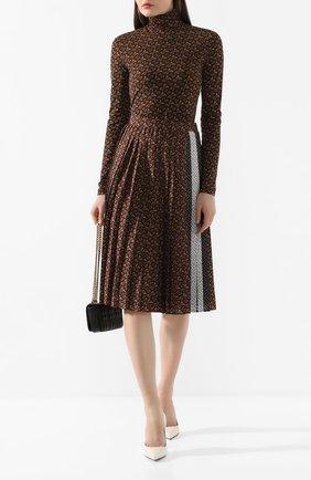 Женская водолазка BURBERRY коричневого цвета, арт. 8025233 | Фото 2