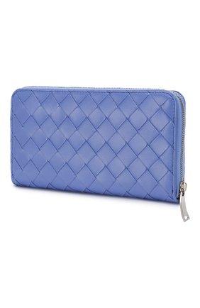 Женские кожаный кошелек BOTTEGA VENETA светло-голубого цвета, арт. 608051/VCPP2 | Фото 2
