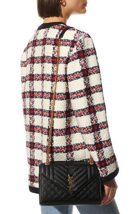 Женская сумка classic monogram medium SAINT LAURENT черного цвета, арт. 600185/B0W91 | Фото 2