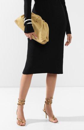 Женский клатч pouch BOTTEGA VENETA желтого цвета, арт. 576227/VCP40 | Фото 2