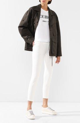 Женские кожаные кеды SANTONI белого цвета, арт. WBCE60650BARGRSGI50 | Фото 2