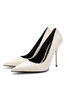 Женская кожаные туфли TOM FORD белого цвета, арт. W2524T-EPY007/PBIV | Фото 1