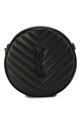 Женская сумка vinyle SAINT LAURENT черного цвета, арт. 610436/DV708   Фото 1 (Материал: Натуральная кожа; Ошибки технического описания: Нет высоты, Нет ширины; Ремень/цепочка: На ремешке; Сумки-технические: Сумки через плечо; Размер: medium)