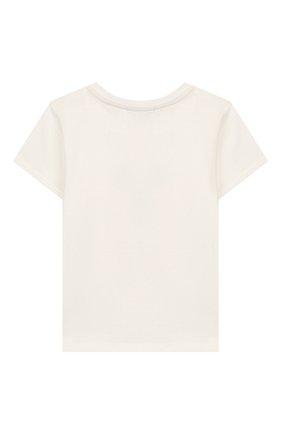 Детский хлопковая футболка FENDI белого цвета, арт. BUI010/ST8/12M-24M | Фото 2
