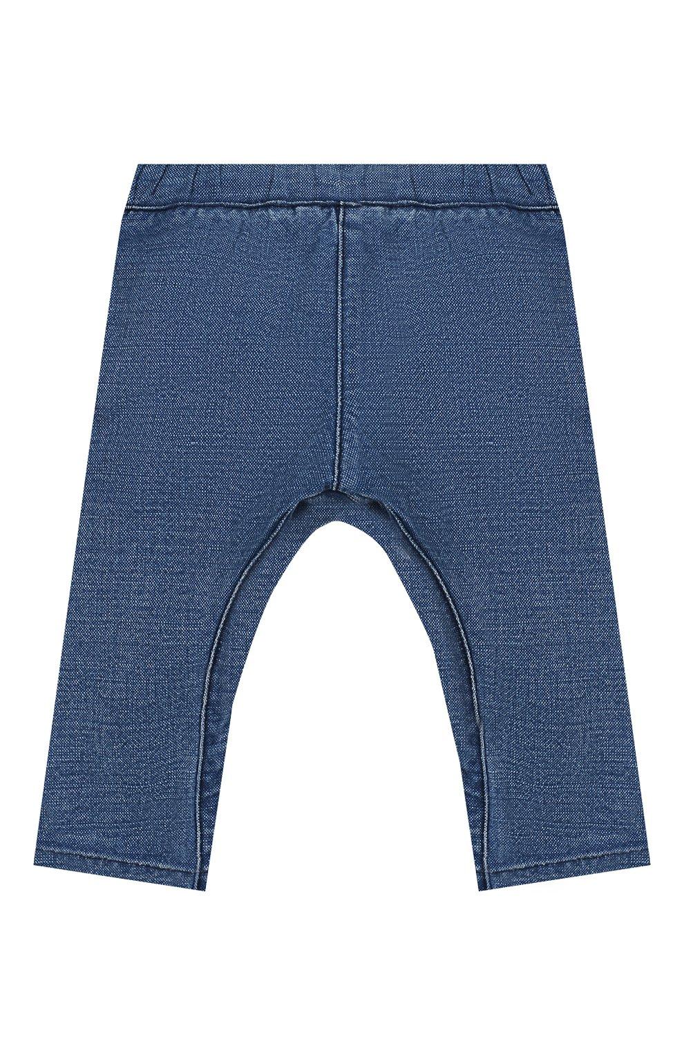 Детские джинсы BURBERRY темно-синего цвета, арт. 8014025 | Фото 2 (Материал внешний: Хлопок, Лен; Ростовка одежда: 12 мес | 80 см, 18 мес | 86 см, 3 года | 98 см, 24 мес | 92 см)