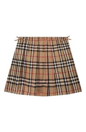 Детская хлопковая юбка BURBERRY разноцветного цвета, арт. 8012123   Фото 1