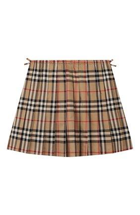 Детская хлопковая юбка BURBERRY разноцветного цвета, арт. 8012123   Фото 2