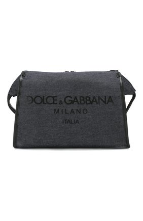Мужская текстильная сумка edge DOLCE & GABBANA синего цвета, арт. BM1817/AJ909 | Фото 1