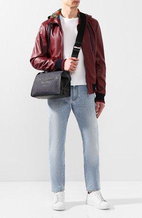 Мужская текстильная сумка edge DOLCE & GABBANA синего цвета, арт. BM1817/AJ909 | Фото 2