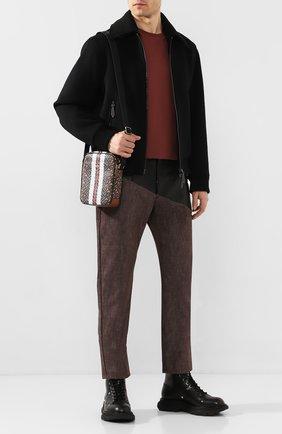 Мужская сумка BURBERRY коричневого цвета, арт. 8023573 | Фото 2