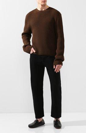 Мужские кожаные мокасины BOTTEGA VENETA черного цвета, арт. 608763/VBPU1 | Фото 2