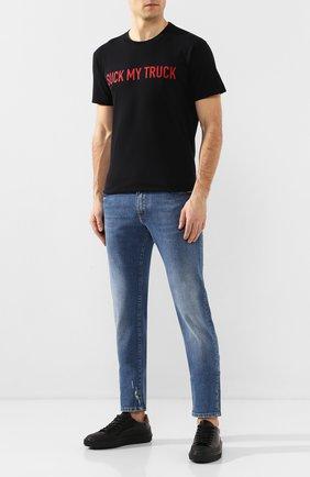 Мужские кожаные кеды RARE черного цвета, арт. RU0004/CITY/TECH PR0 | Фото 2