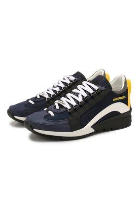 Мужские текстильные кроссовки DSQUARED2 синего цвета, арт. SNM0505 09792558 | Фото 1