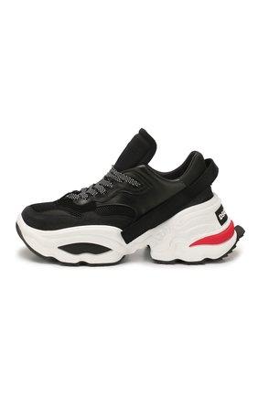 Мужские комбинированные кроссовки DSQUARED2 черного цвета, арт. SNM0088 01502113 | Фото 3