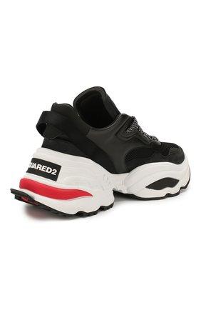 Мужские комбинированные кроссовки DSQUARED2 черного цвета, арт. SNM0088 01502113 | Фото 4