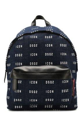 Мужской текстильный рюкзак DSQUARED2 синего цвета, арт. BPM0019 10102910   Фото 1