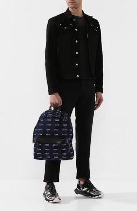 Мужской текстильный рюкзак DSQUARED2 синего цвета, арт. BPM0019 10102910   Фото 2