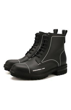 Мужские кожаные ботинки DSQUARED2 черного цвета, арт. ABM0051 01500001 | Фото 1
