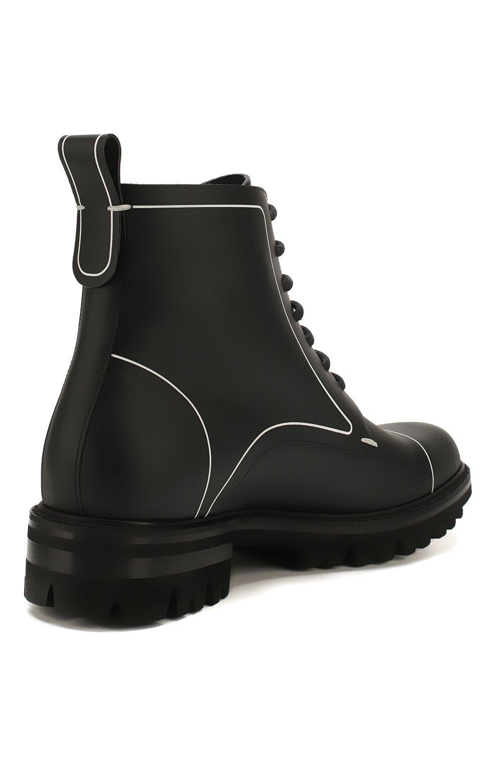 Мужские кожаные ботинки DSQUARED2 черного цвета, арт. ABM0051 01500001 | Фото 4