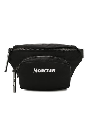 Мужская текстильная поясная сумка MONCLER черного цвета, арт. F1-09A-5M702-10-02SB6 | Фото 1