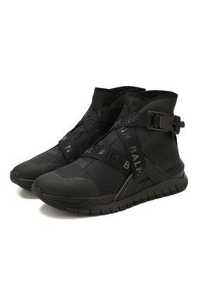 Мужские текстильные кроссовки b-troop BALMAIN черного цвета, арт. TM1C213/TNY0 | Фото 1