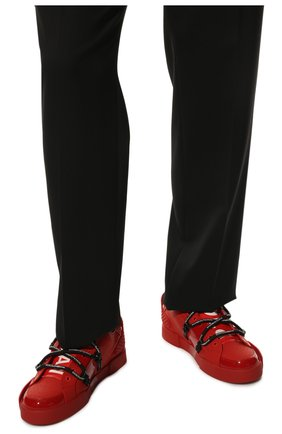 Мужские кожаные кеды portofino DOLCE & GABBANA красного цвета, арт. CS1783/AJ986   Фото 3