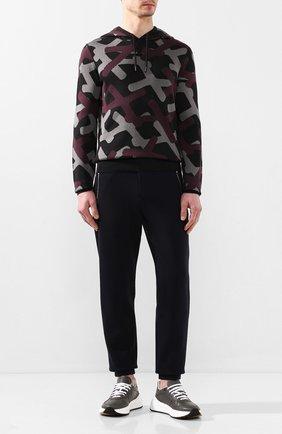 Мужские кожаные кроссовки BOTTEGA VENETA светло-серого цвета, арт. 565646/VT040 | Фото 2