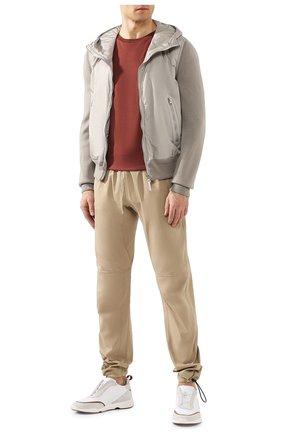 Мужской брюки из смеси хлопка и вискозы BOTTEGA VENETA бежевого цвета, арт. 608707/VA5Y0 | Фото 2