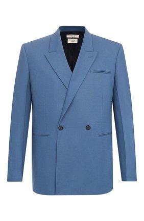 Мужской кашемировый пиджак BOTTEGA VENETA голубого цвета, арт. 600703/VKH90 | Фото 1